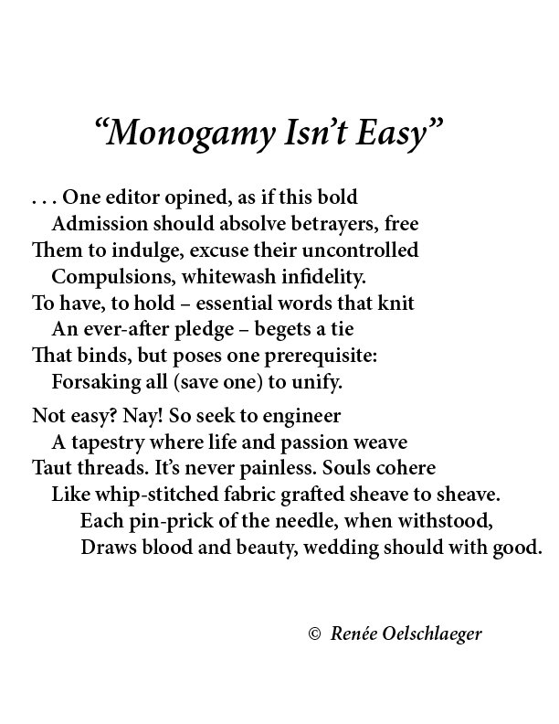 monogamy, sonnet, poetry, marriage, infidelity