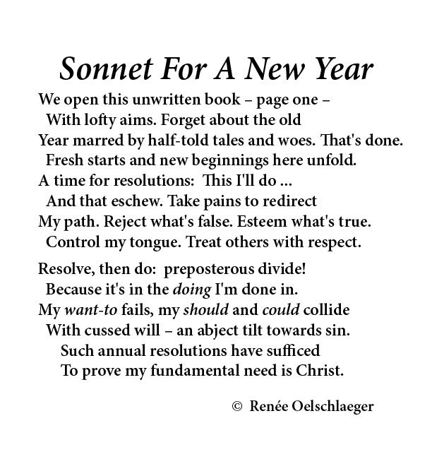 Sonnet-For-A-New-Year, New Year, resolutions, sonnet, poem, poetry