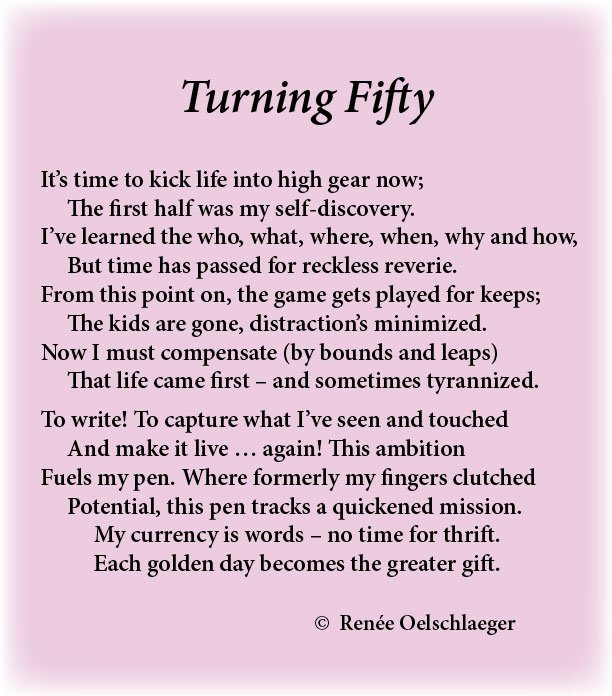 Turning-Fifty, distractions, aging, self-discovery, sonnet, poem, poetry, goals