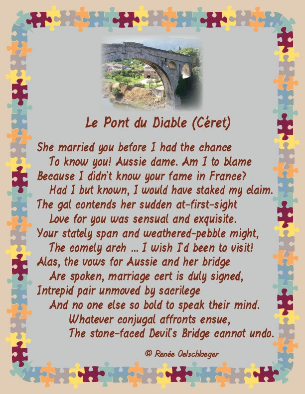 Le-Pont-du-Diable, marriage, french bridge, le pont du diable, devil's bridge, france, sonnet, poetry, poem