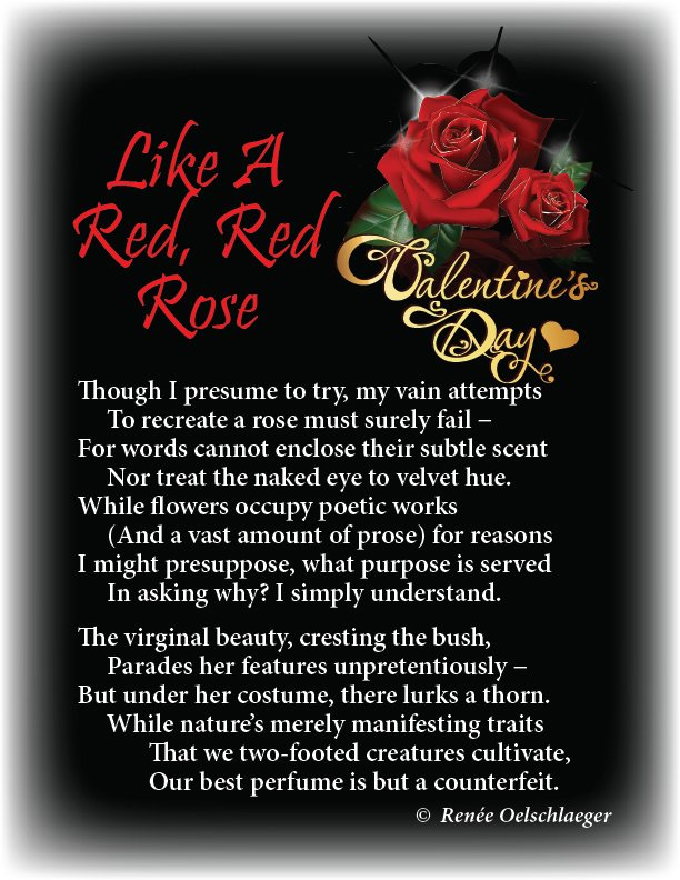 Like-A-Red-Red-Rose, valentine, roses, perfume, Visser sonnet, sonnet, poetry, poem
