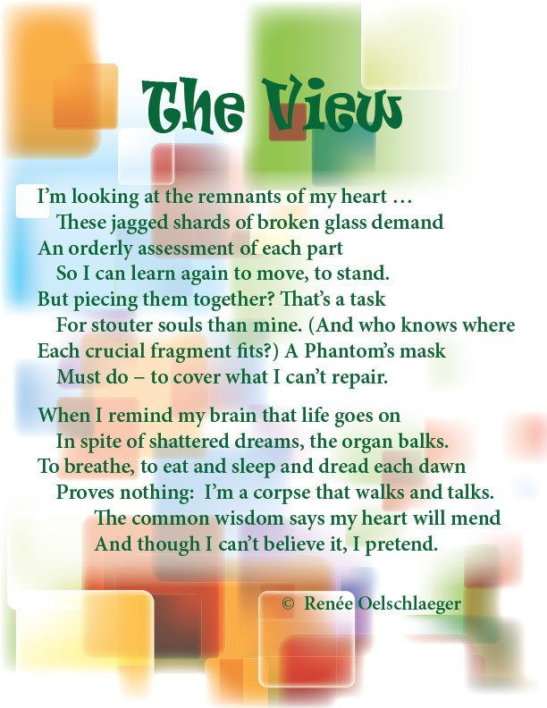 The-View, broken heart, lost love, regrets, sonnet, poetry, poem