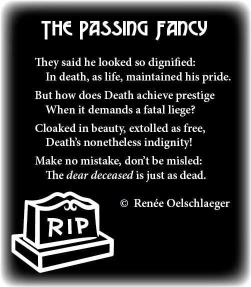 Passing-Fancy, death, poetry, light verse, poem