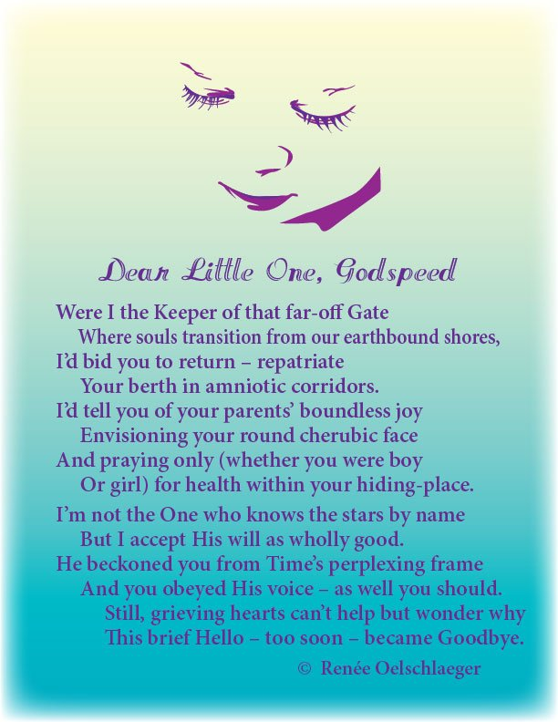 Dear-Little-One, infant death, miscarriage, goodbye, sovereignty of God, sonnet, poetry, poem