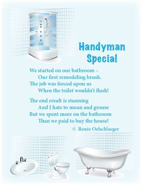 Handyman-Special, bathroom remodel, renovation, light verse, poetry, poem