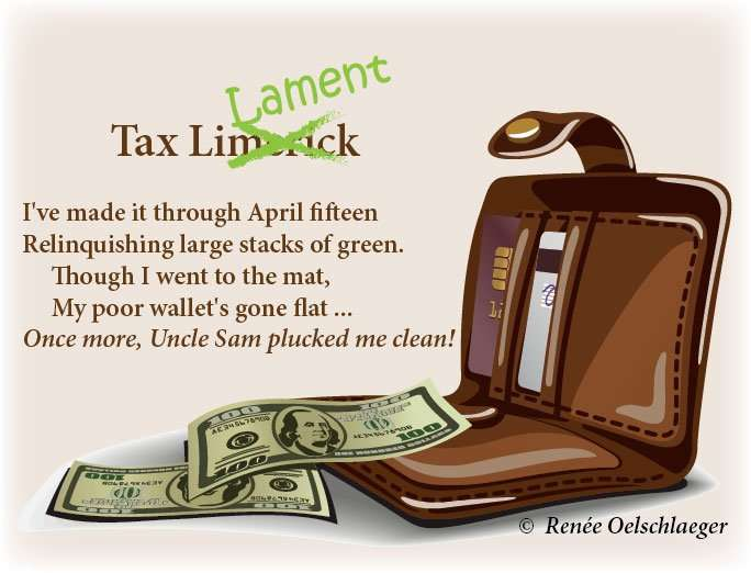 limerick, taxes, April 15, Uncle Sam, poetry, poem, light verse