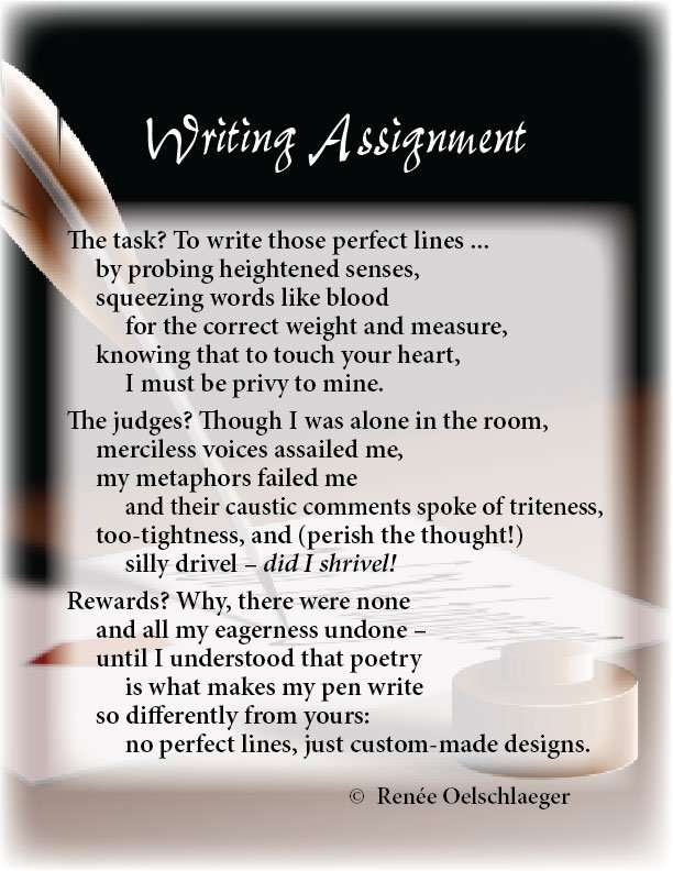 Writing-Assignment, writing, assignment, free verse, poetry, poem