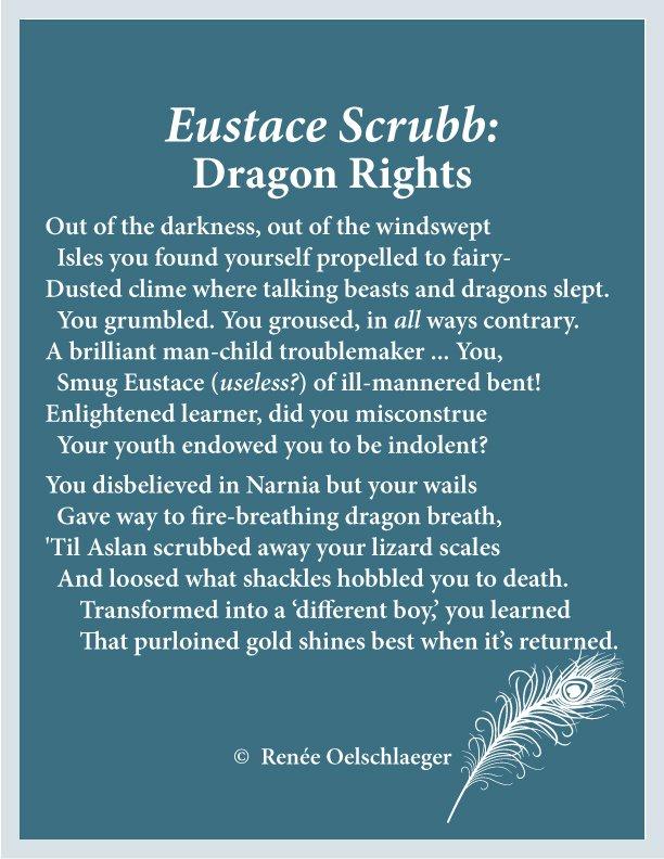 Narnia, Eustace Scrubb, dragon, Aslan, windswept isles, fairy, sonnet, poetry, poem