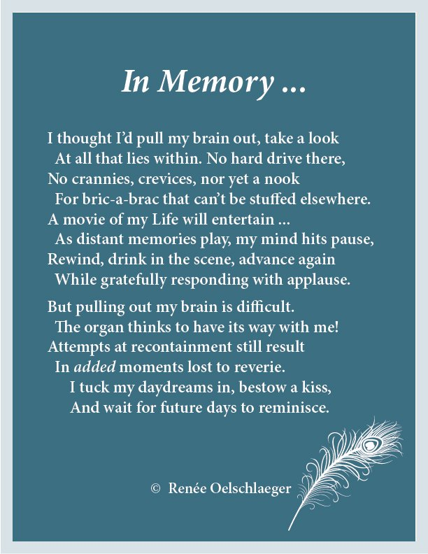memory, remembering, reminiscence, daydreams, sonnet, poetry, poem