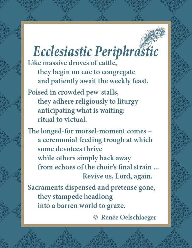 Ecclesiastic-Periphrastic, church, free verse, poetry, poem