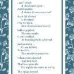 Epitaph, abortion, down-syndrome, termination, infanticide, poem, verse, poetry