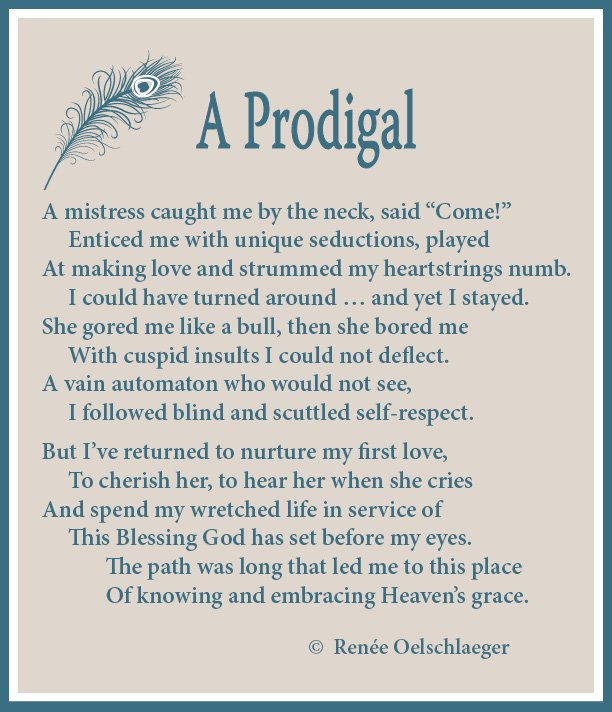 A-Prodigal, sonnet, poetry, poem, seductions of sin, grace