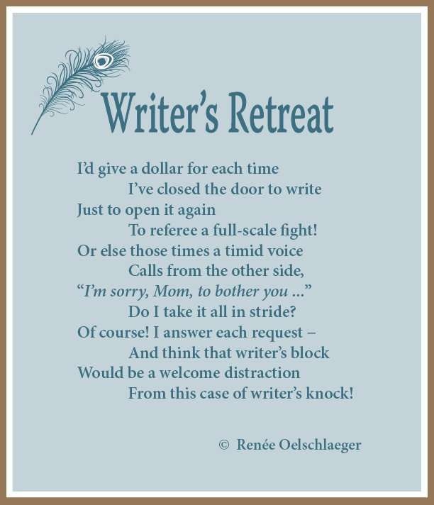 Writer's Retreat, writing, poetry, verse, poem
