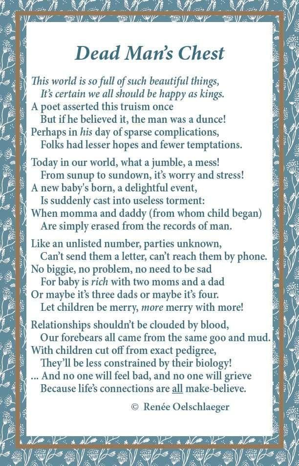 Dead Man's Chest, poetry, poem, verse,