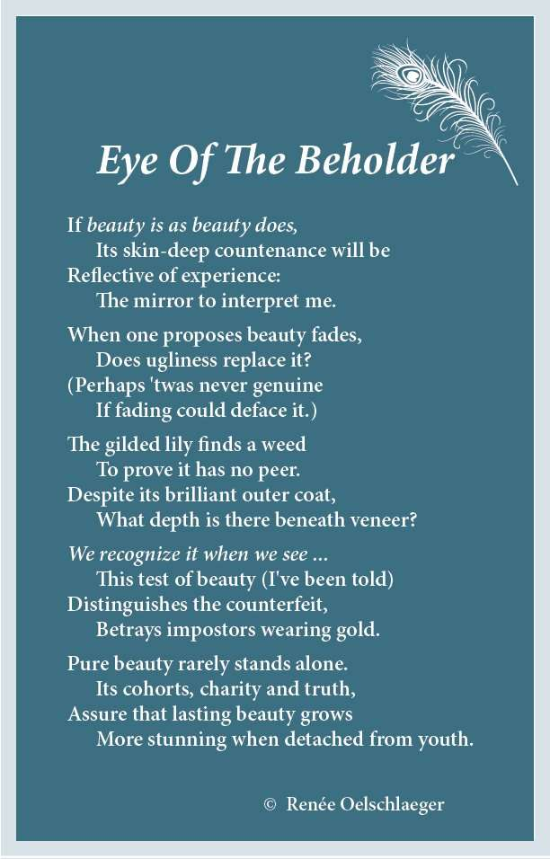 Eye Of The Beholder, beauty, poem, poetry, verse