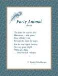 Party Animal, Jaleen, poetry, poem