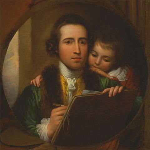 480px-Benjamin_West_-_The_Artist_and_His_Son_Raphael_-_Google_Art_Project