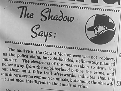 The Shadow Says