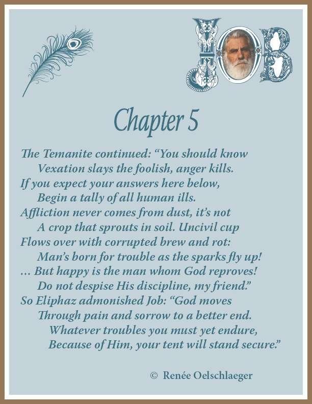 Job, Chapter 5, sonnet, poem, poetry