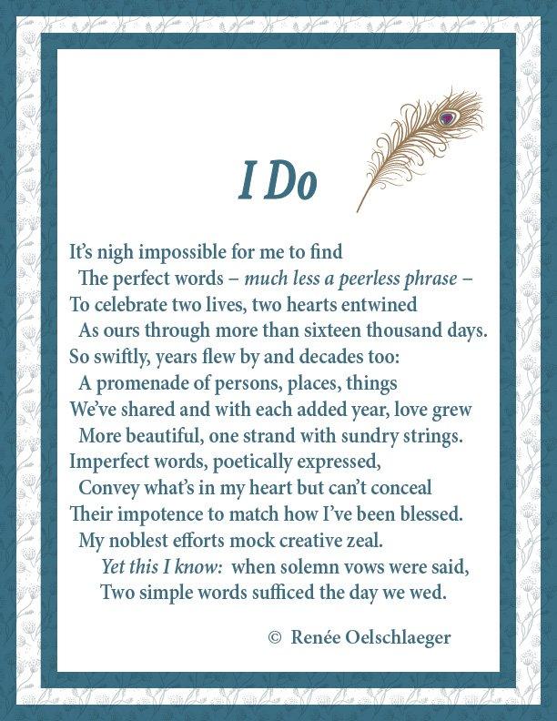 I Do, anniversary, wedding, poem, poetry, sonnet