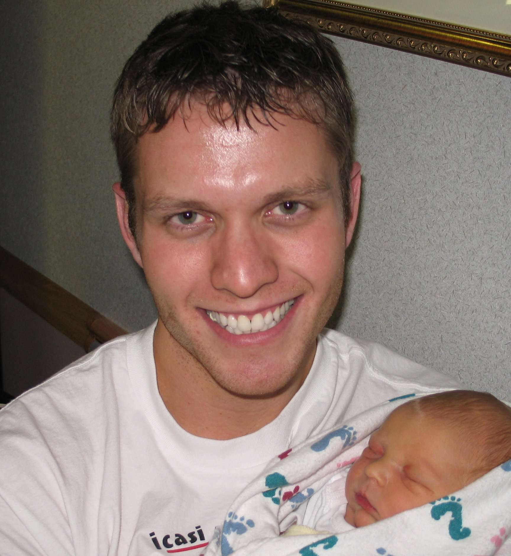 With his nephew in 2005