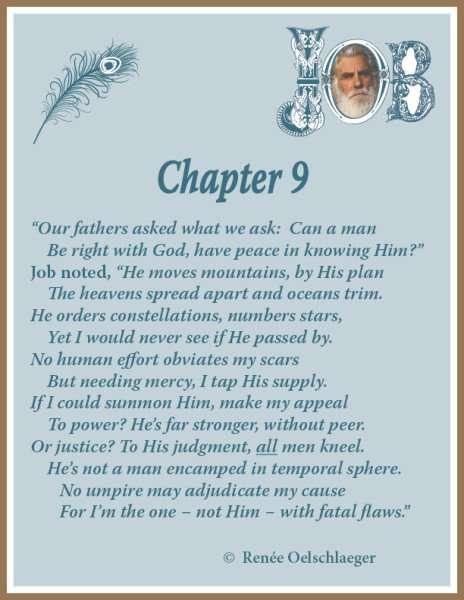 Job Chapter 9, sonnet, poetry, poem, Job