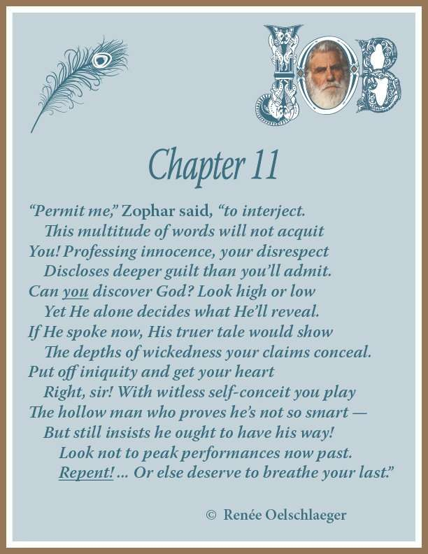 Job Chapter 11, sonnet, Zophar, poetry, poem, Uz
