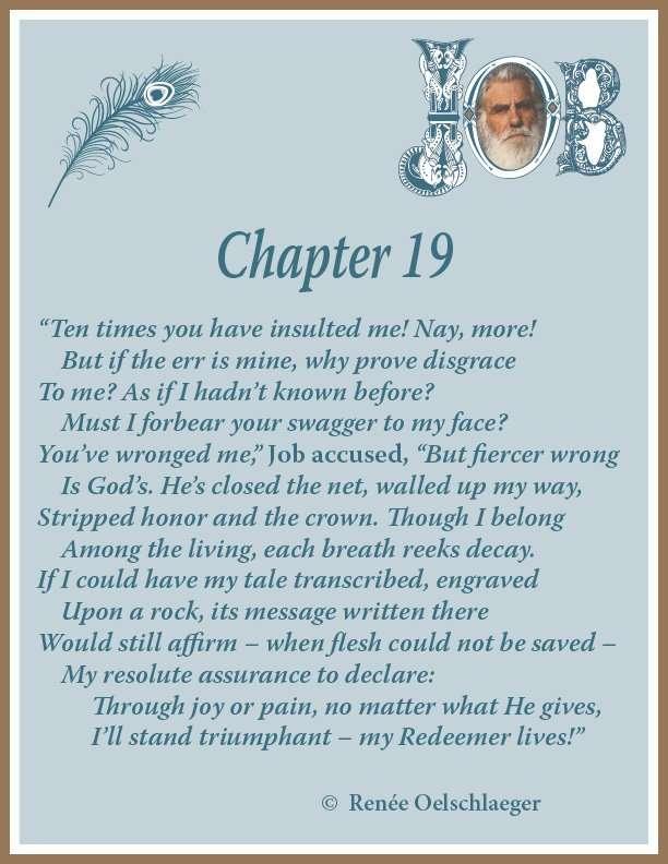 Job, Chapter 19, hope, sonnet, Redeemer, poetry, poem