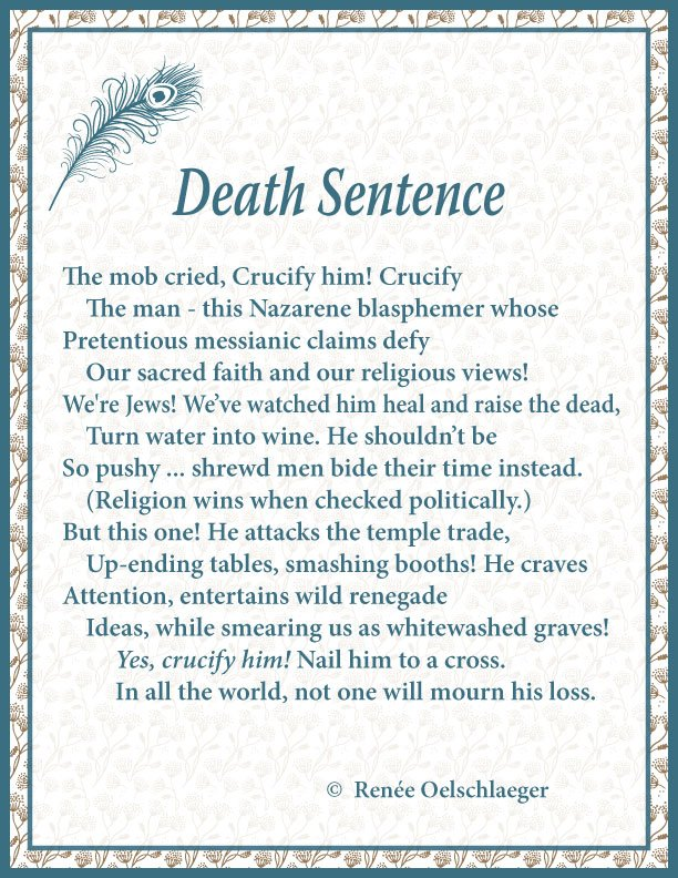 Death Sentence, sonnet, poetry, poem