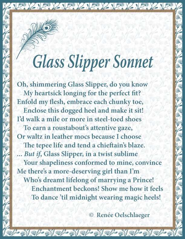 Glass Slipper Sonnet, sonnet, poem, poetry,